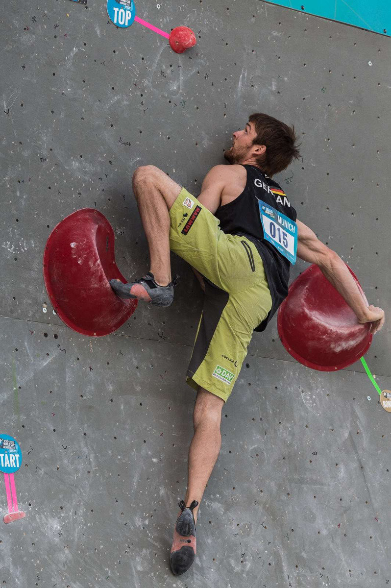 Jan Hojer zeigt sich beweglich - ©DAV / NIls Noell