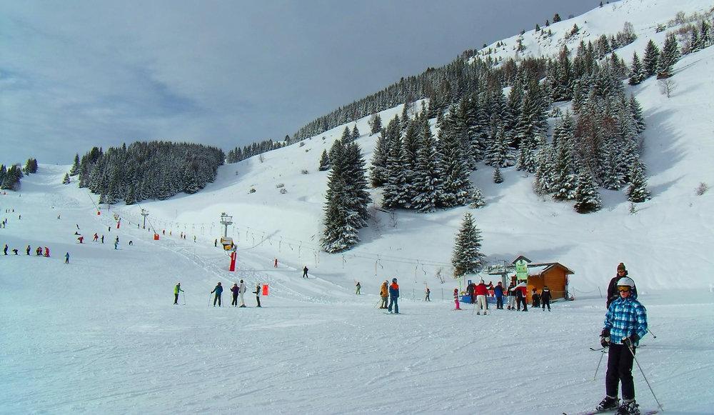 Sur les pistes de ski d'Auris en Oisans - © Station d'Auris en Oisans
