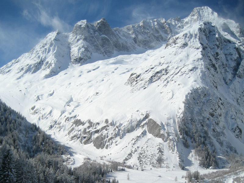 Die Aussicht im Skigebiet La Fouly ist atemberaubend ... - © Pays du St-Bernard