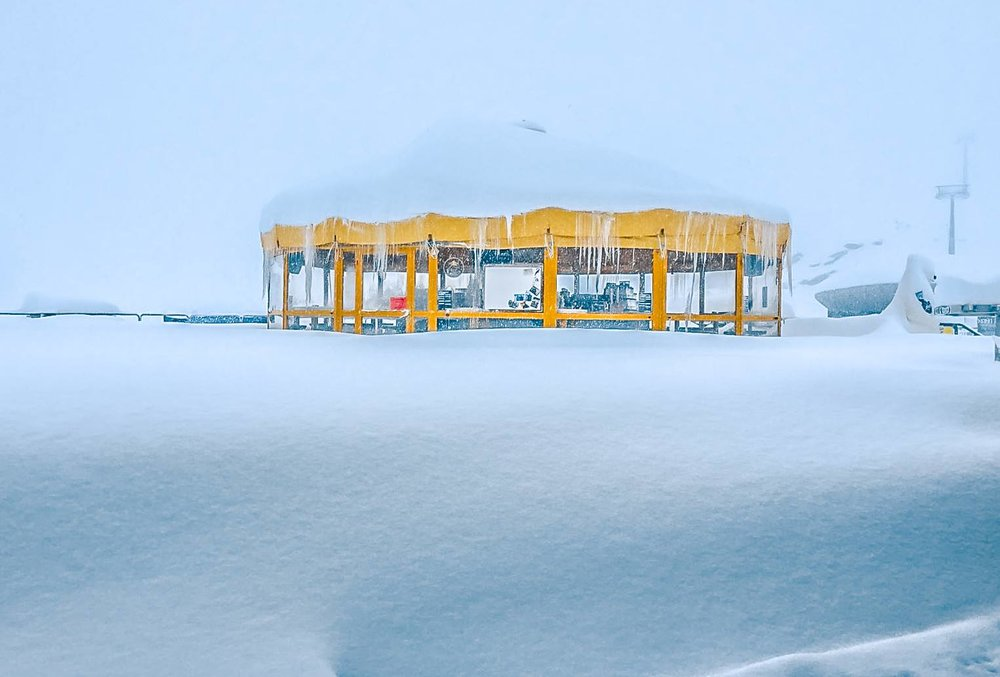 Když se sněhová bouře utiší... Pitztal, 6.11.2017 - © Pitztal Gletscher - facebook