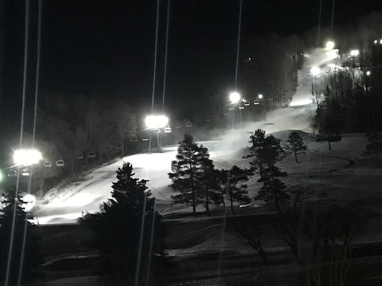Holiday Valley - All guns are blazin' on the Sunrise slope tonight. If they can keep this up we'll have an early start for sure! - © HVOldtimer