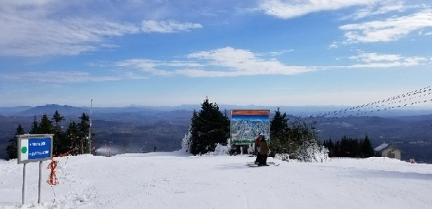 Okemo Mountain Resort - just a few trails, but groomed and fun to ride. early season at it's finest! - © CTboarder