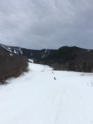 Whiteface Mountain Resort - Great fun first day!, basically one run open, excluding small section where it splits; open ltl whiteface peak to bottom