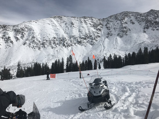 Arapahoe Basin Ski Area - Icy in spots but for the most part it was well worth the day away from Denver.  - © Steve's iPhone