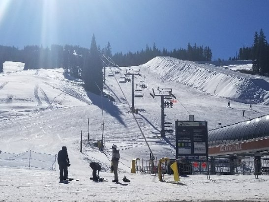 Copper Mountain Resort - super warm today but snow is in good shape.  - © anonymous