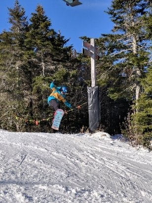 Killington Resort - was there this weekend, conditions on the main trail from k1 we're ok with ice patches, the right side of the same peak was great with plenty of soft snow - © wysguy