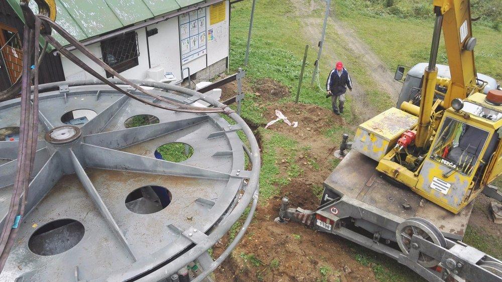 Kompletace strojovny nové dvoukotvy - © Desná - Černá Říčka - facebook