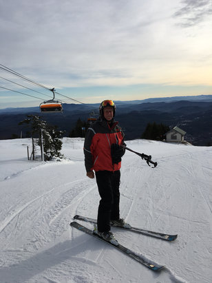 Okemo Mountain Resort - Nice conditions, early.  - © mcollins's iPhone