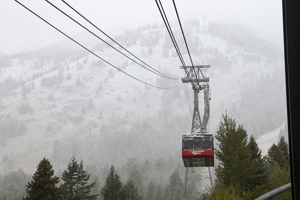 Jackson Hole welcoming in the first snow of the winter. - © Courtesy of Jackson Hole Mountain Resort