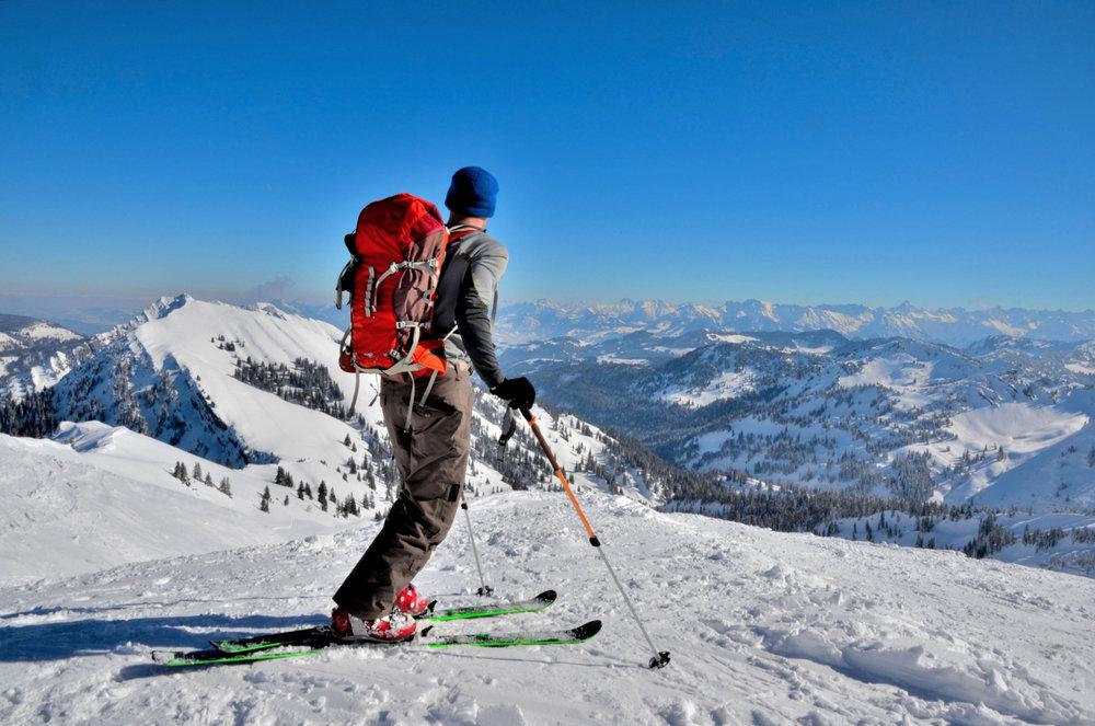 Skitoeren langs de Hochgrat. - © Andreas P - Fotolia