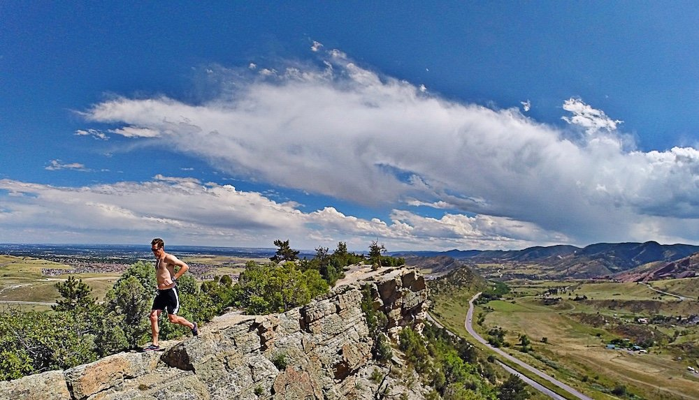 Chris Tomer trail running prior to the ski season kicking off. - © Meteorologist Chris Tomer