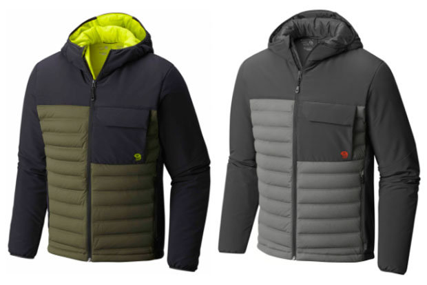 Mountain Hardwear Men's StretchDown HD Jacket: $250 Reach for this comfortable, yet stylish jacket when the shoulder seasons require smart layering. The StretchDown's synthetic insulation and five colorway options ensure you're dressed the part whether out for an evening on the town or climbing your favorite peak.