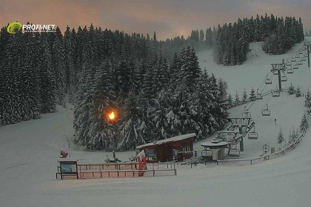 1. decembrové ráno v PARK SNOW Donovaly - © Webkamery