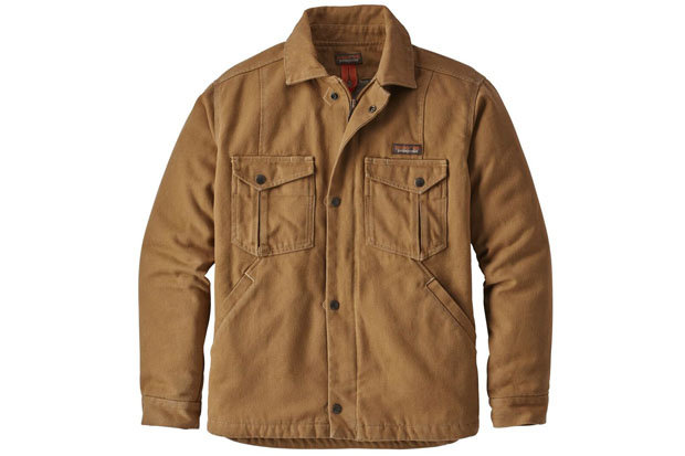 Patagonia Men's Iron Forge Hemp Canvas Ranch Jacket: $179 Tackle your chores in style with this tough offering from Patagonia. The Ranch Jacket features abrasion-resistant canvas, reinforced elbows, rib-knit internal cuffs and an insulated interior.