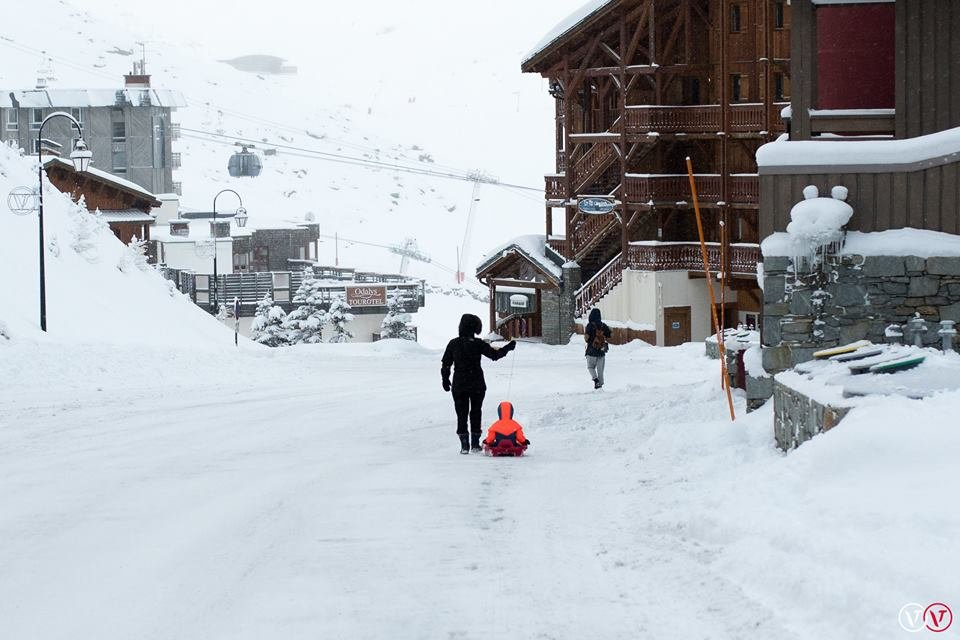 Powder piling up in Val Thorens last year - © Val Thorens/Facebook