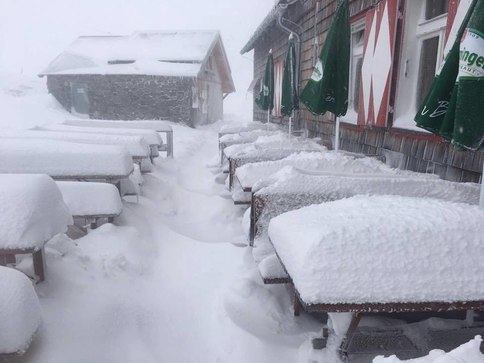 In Schladming fiel so viel September-Schnee wie lange nicht mehr - © Facebook Schladming-Dachstein