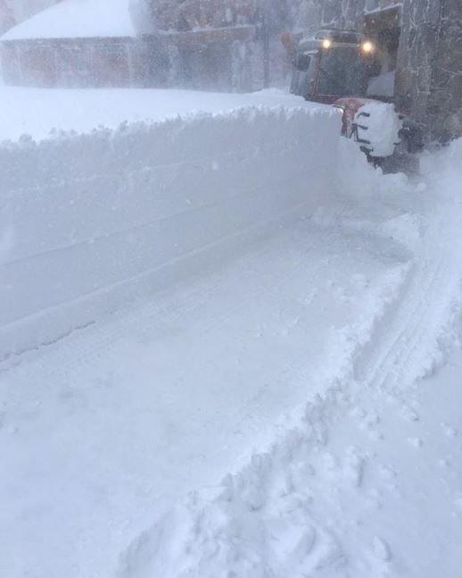 1 mètre de neige fraîche tombé en 24h à Tignes ! - © Twitter Tignes