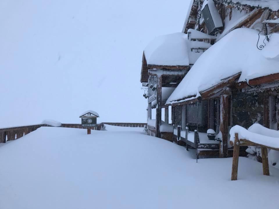 Déjà plus de 50 cm en station à Val Thorens... - © Facebook Chalet de la Marine