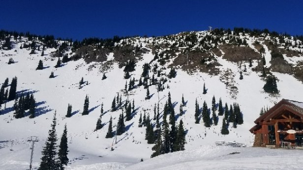 Crystal Mountain - Chair 6 looking sad...  like I said in earlier post south facing aspects are 70/30 snow/dirt. - © james