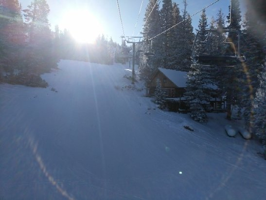Brighton Resort - definitely a groomer day. not bad. few icy spots  - © Paris