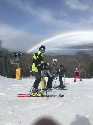 Cataloochee Ski Area - Great condition until 2 when the rain came. And a rainbow. And yes I forgot my ski pants  - © anthony's iPhone