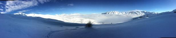 Superdevoluy / La Joue du Loup - Ok pour ski rando, remontées mécaniques fermées jusqu'à vendredi inclus, avis aux amateurs. - © iPhone de Alexis