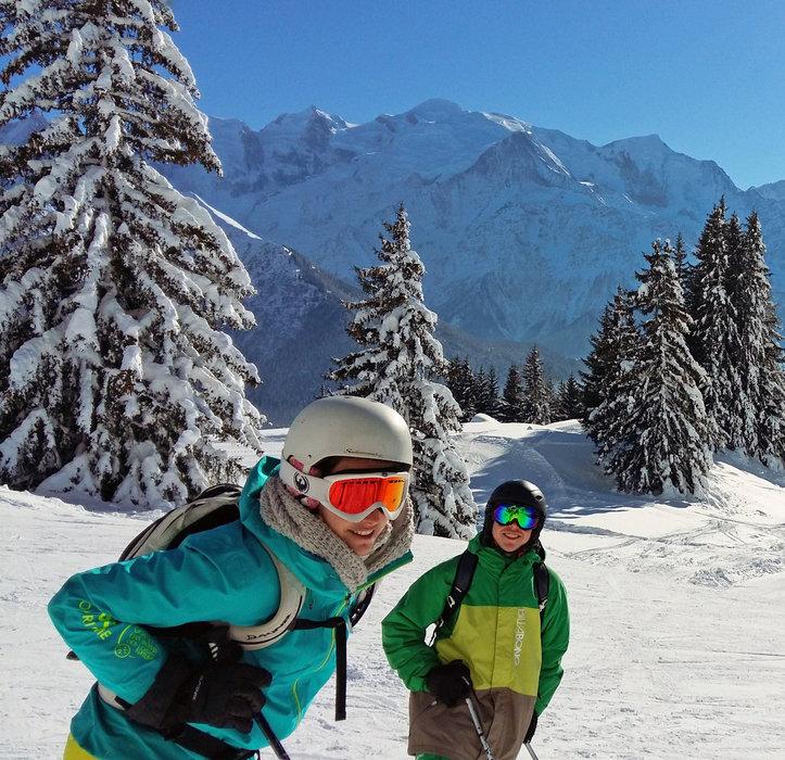 Ski en famille dans la station de passy plaine joux - © OT de Passy