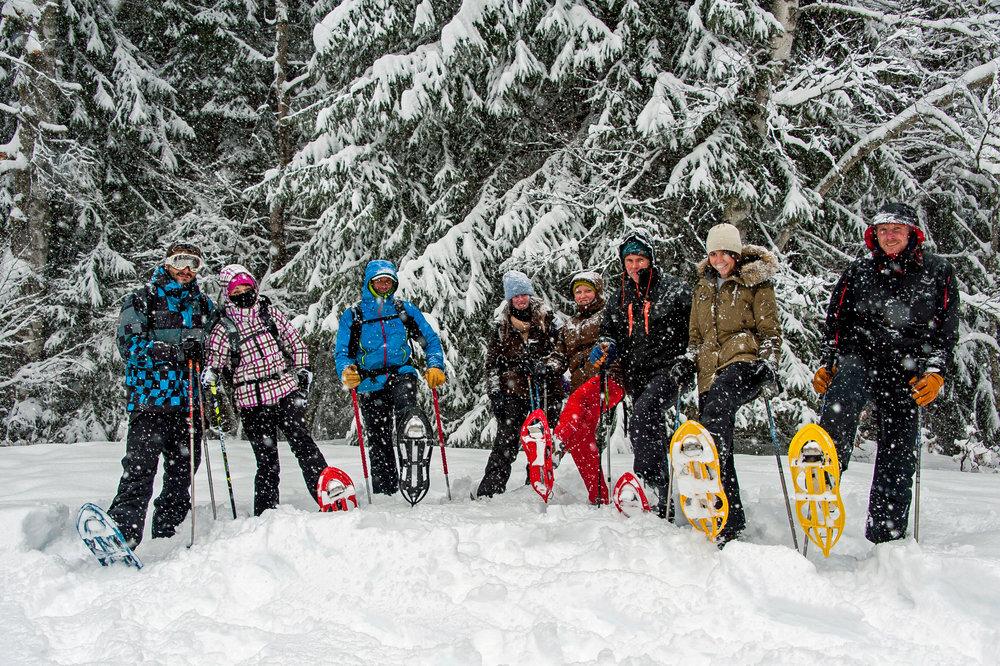 Passy Plaine Joux offre de nombreux itinéraires à parcourir en raquettes à neige - © Eric Courcier / OT de Passy