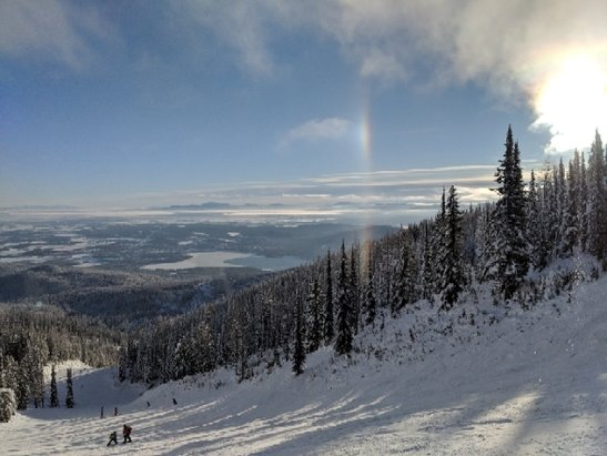 Whitefish Mountain Resort - A bluebird day on the Big Mountain.