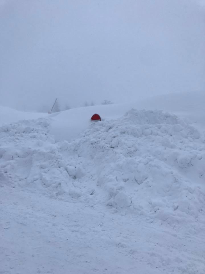 Eccezionale nevicata a Sestriere 09.01.18 - © Villaggio Olimpico di Sestriere (To) Facebook