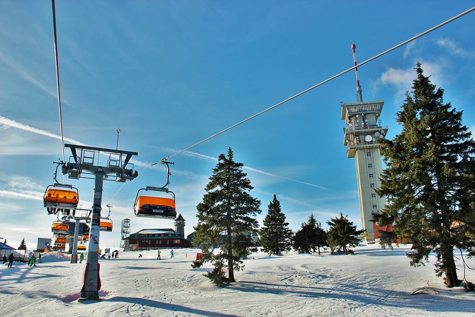 Skiareál Klínovec 11.1.2018 - © facebook Skiareál Klínovec