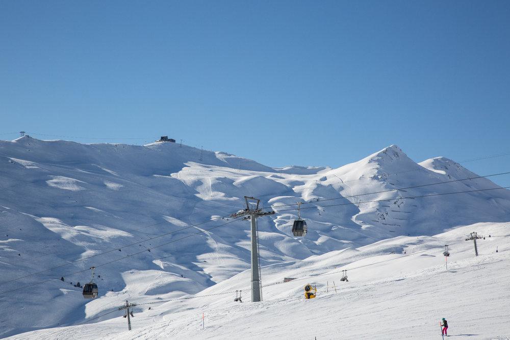 Kaiserwetter im Skigebiet Flims-Laax-Falera - © Skiinfo