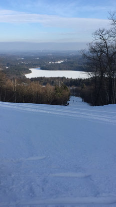 Wachusett Mountain Ski Area - Great conditions, trails were pretty damn good, only issue was it was packed. Besides that it was great.  - © iPhone