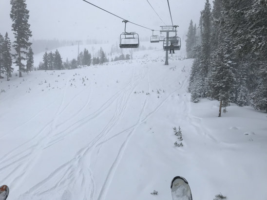 Vail - Epic day and easily the best skiing of the season out here. Need more storms like this! - © ebubelis's iPhone
