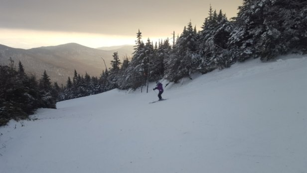 Jay Peak - Wind hold kind of a day. Upper mt lifts didnt start running until almost noon. - © LosAlamos