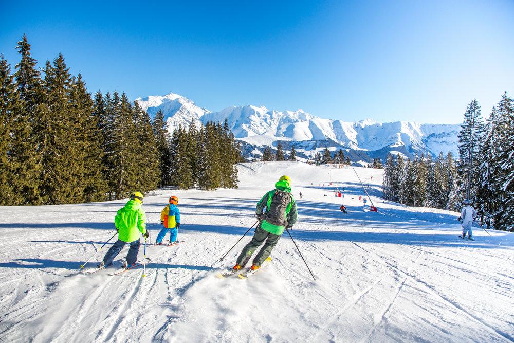 Panorama grandiose depuis les pistes de ski de Combloux - © Office de Tousrisme de Combloux
