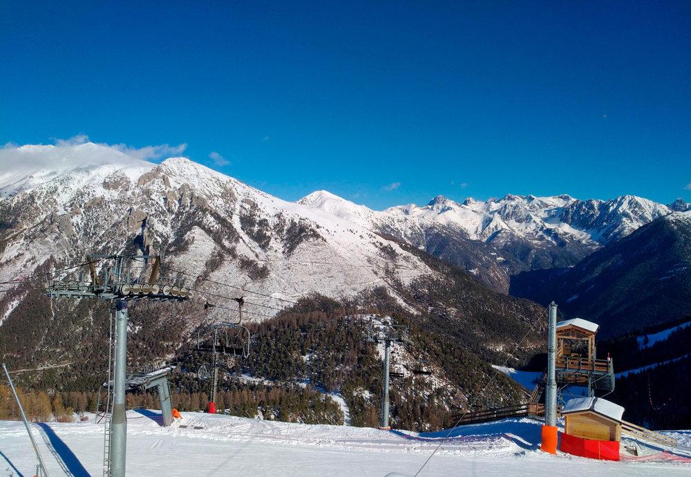 Sur les pistes de ski de La Colmiane - © Station de ski de la Colmiane