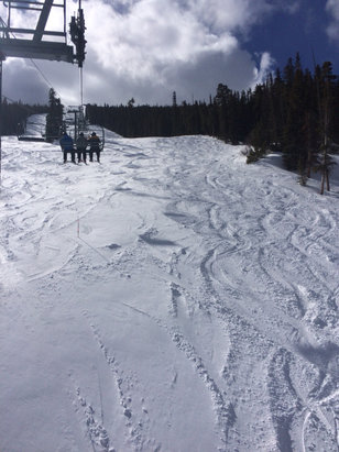 Eldora Mountain Resort - Excellent day! Powder everywhere, sun came out, no lines, not much wind and warm temps! Come and get it!  - © Amy's iPhone