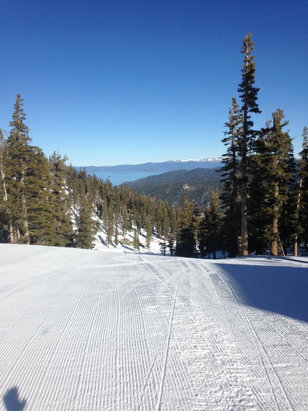 Heavenly Mountain Resort - Great corduroy every morning - and you can't beat the views  - © Cynthia Tisdale's iPhone