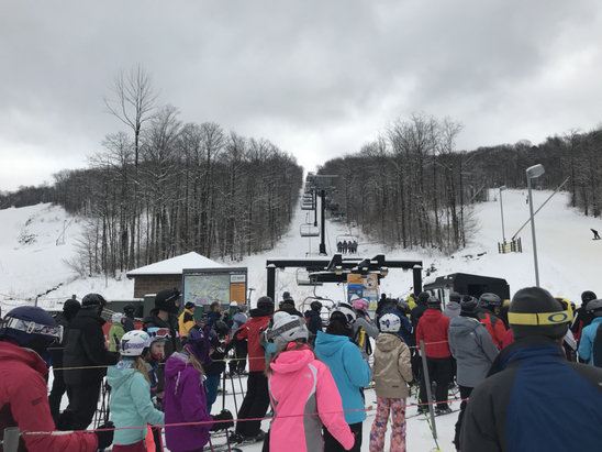 Wisp - Great conditions and skiing. Most of trails open. Long lift lines. - © iPhone