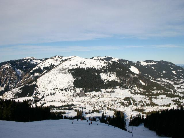 A panoramic picture of Oberjoch, Germany.