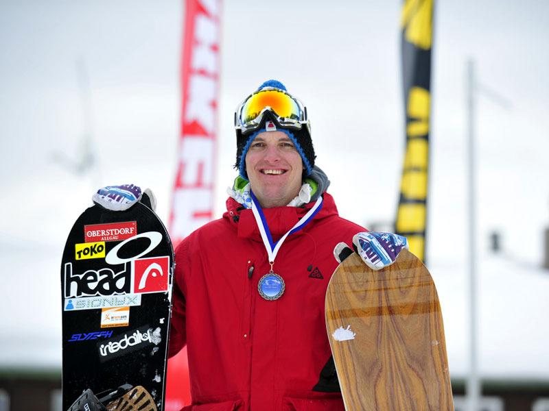David Leitner verteidigte bei den Snowboardern seinen Titel aus dem Vorjahr