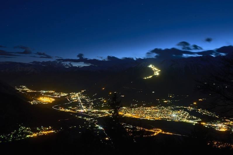 Sci in notturna a Domobianca  - © Domobianca Facebook