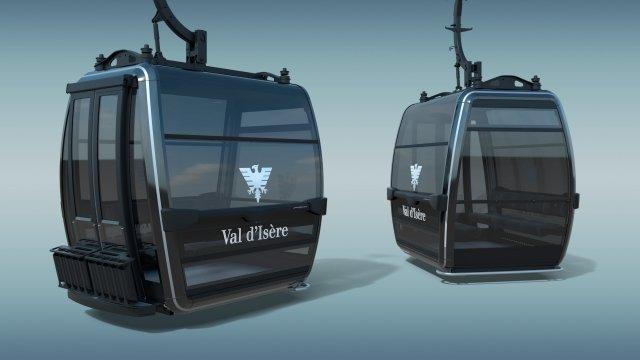In mehreren französischen Skigebieten wird die Firma POMA neue Gondeln und Lifte installieren - © POMA
