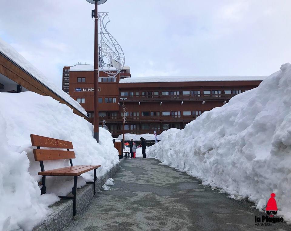 Piles of snow in La Plagne 28.1.18