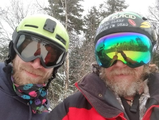Gore Mountain - wow what a day, man do we love this mountain great staff great snow and a great bro to share this killer day with - © anonymous