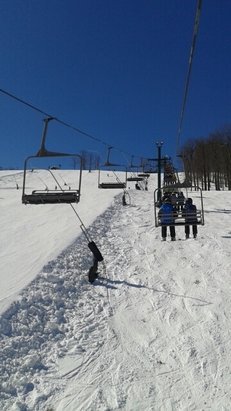 Seven Springs - Bluebird day.  Conditions are very good and temps are just right.  Nice recovery for March. - © go ski it