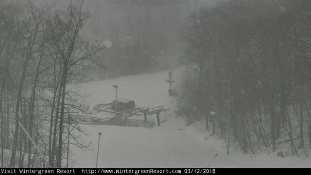 Wintergreen Resort - Fresh snow today!