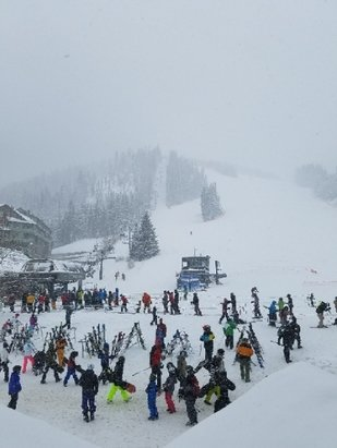 Winter Park Resort - winter park - snowing this morning. - © anonymous