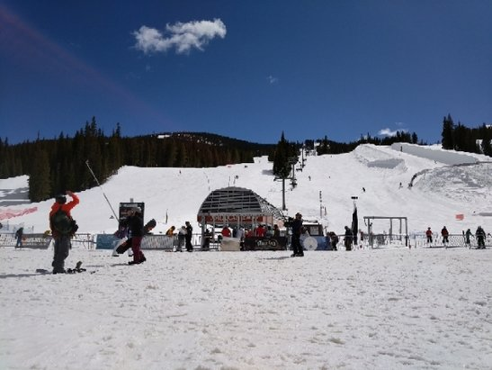 Copper Mountain Resort - at the peak some fresh last night. as the day goes on slurpee in the lift lines. - © anonymous